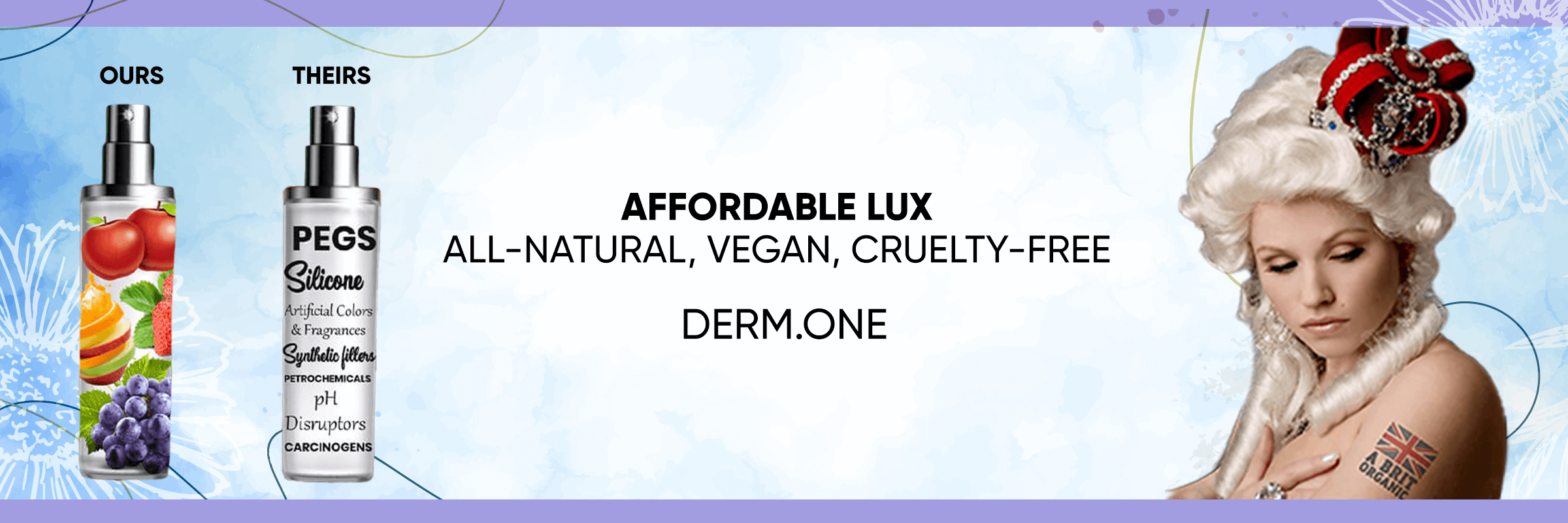 clean beauty products, clean beauty products online, affordable lux, all natural, vegan, cruelty free, derm.one