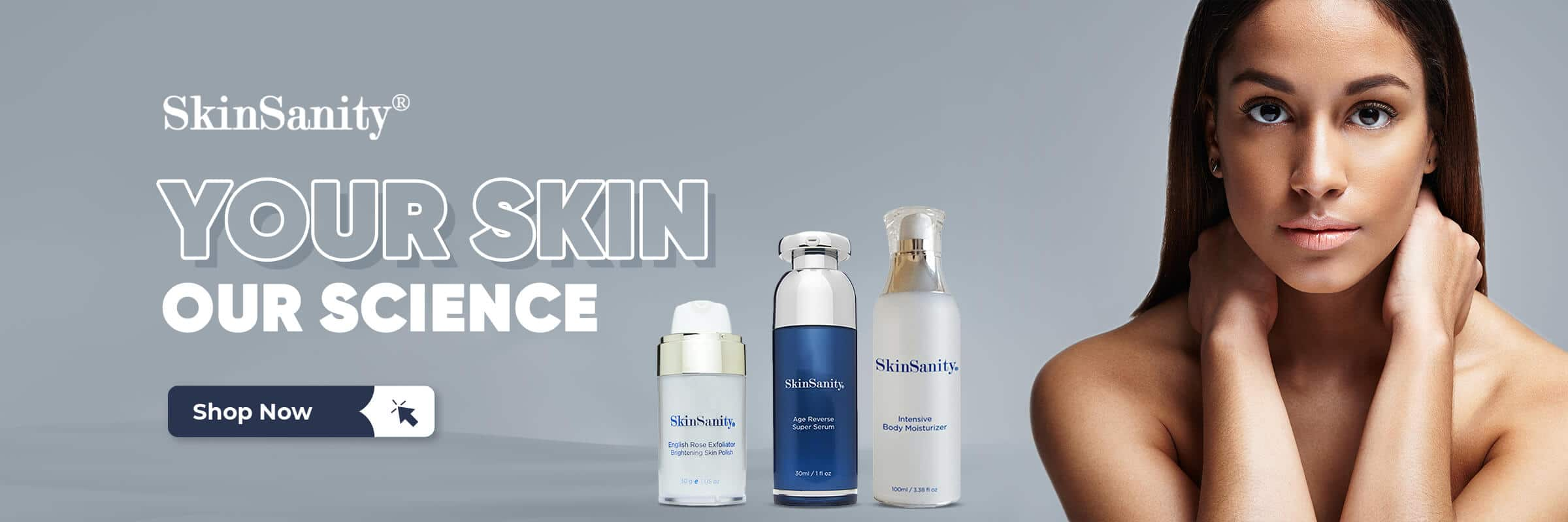 clean beauty products, clean beauty products online, skinsanity, your skin our science